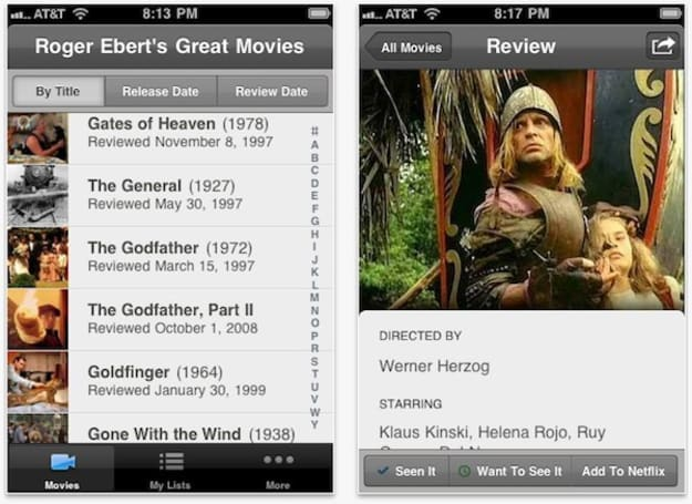 Roger Ebert's Great Movies app hits iOS devices, pulls you from your Netflix-recommended slump