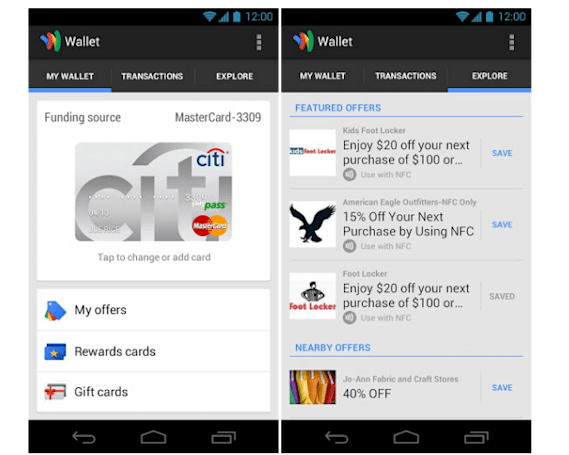 Google Wallet comes to Sprint HTC One, Galaxy Note II, GS4 and US Cellular Note II