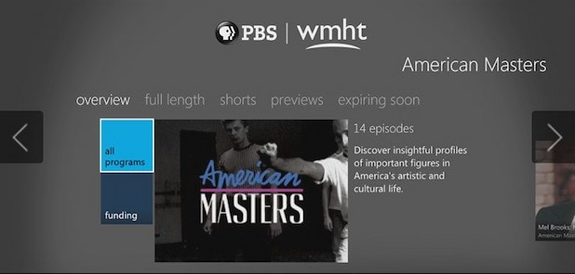 PBS programming comes to the Xbox 360