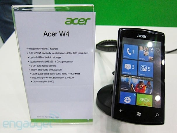 Acer M310 Windows Phone said to have HDMI-out, 8GB storage