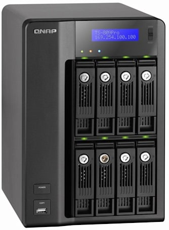 QNAP busts out Core 2 Duo-equipped TS-809 Pro Turbo NAS