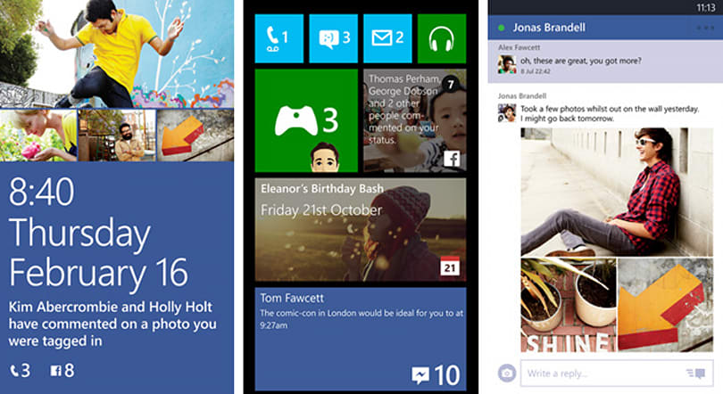 Facebook for Windows Phone 8 now lets you pin chats and events to the home screen