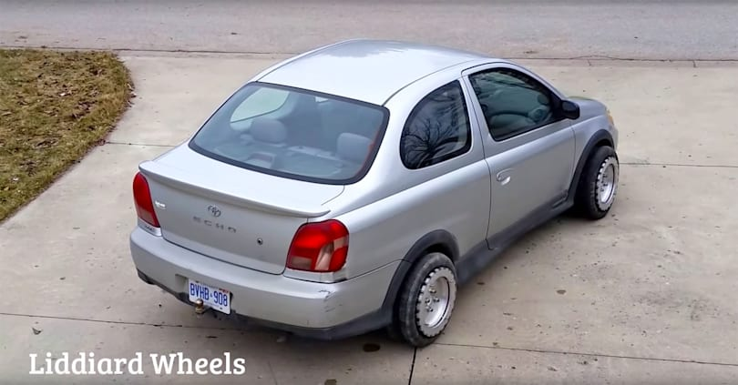 These homemade wheels let you maneuver your car as you please