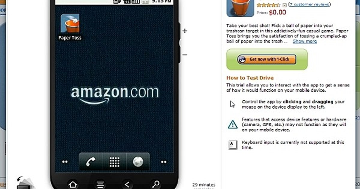 amazon app store lets you play with an android machine 10035