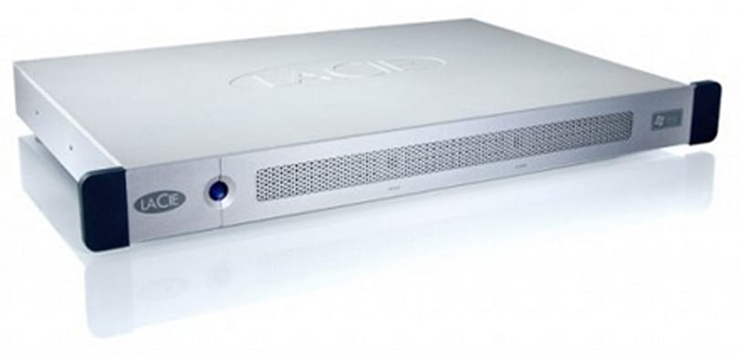 LaCie 1U rack-mountable Ethernet Disk works with Time Machine