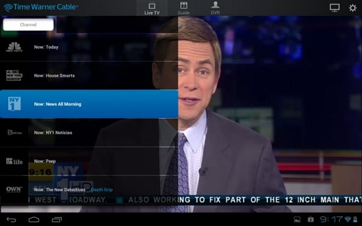 Time Warner Cable app for Android tablets with live streaming is (still) right around the corner