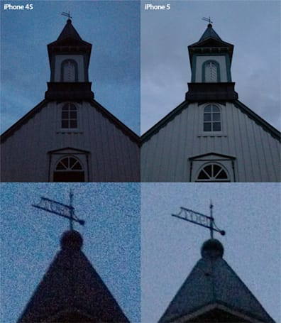 iPhone 5 camera tested in Iceland shows low-light photo comparison to 4S