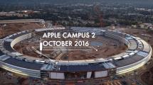 Drohnenvideo zeigt Apple-Raumschiff zur blauen Stunde