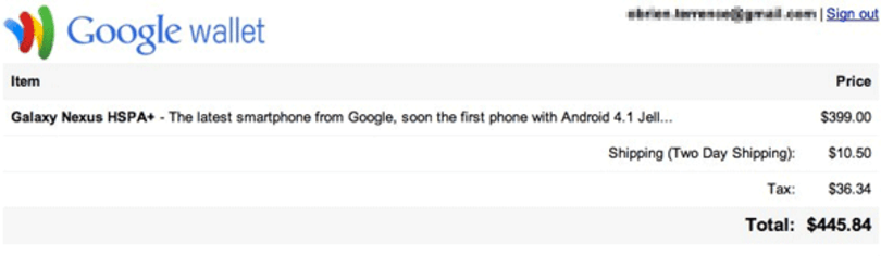 Android Jelly Bean revealed as version 4.1 on Galaxy Nexus checkout page