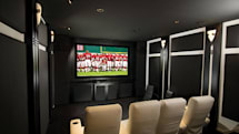 Black and white home theater has no need for vividness