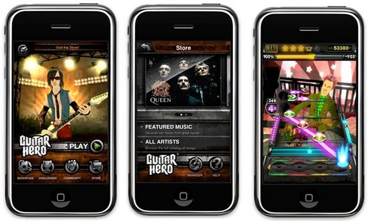 Guitar Hero out on iPhone now