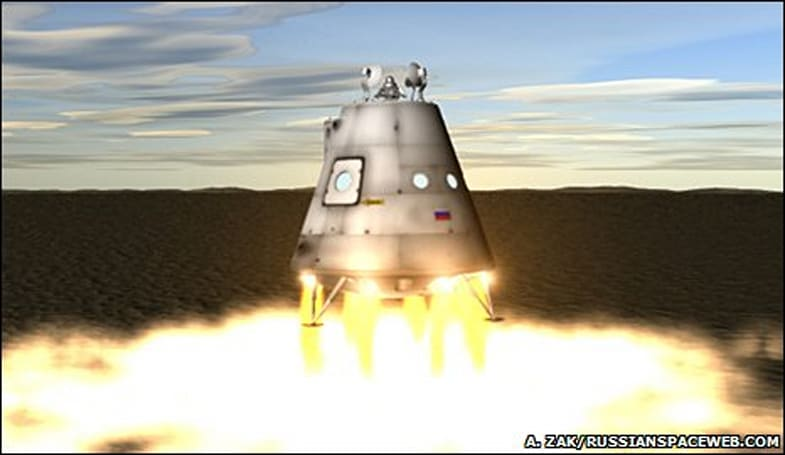 Next Russian space capsule could land on a gentle cushion of fire