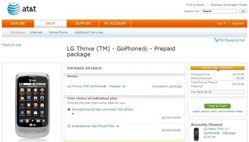 LG Thrive debuts as AT&T's first Android GoPhone, also available as the Phoenix for the committal-type