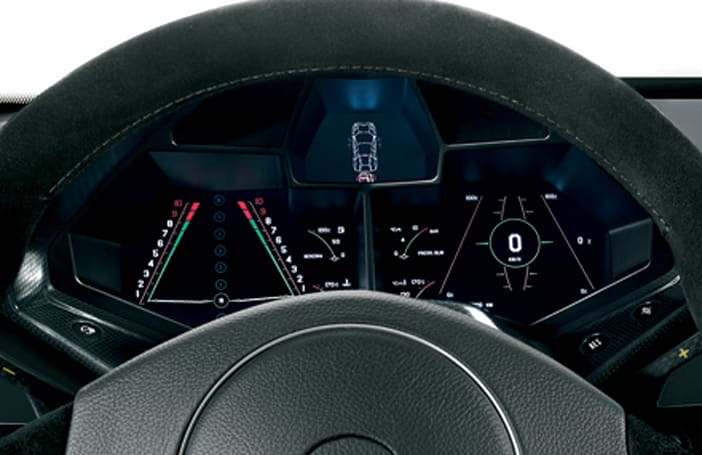 Lamborghini Reventon boasts configurable displays