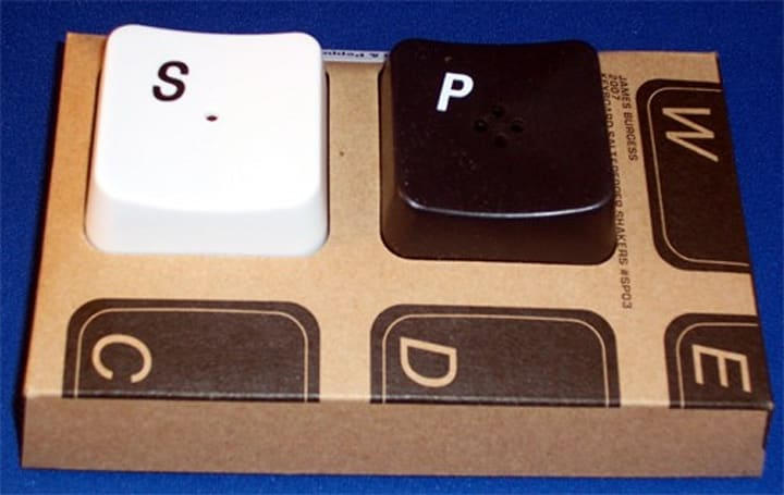 PC Keyboard Salt and Pepper Shakers don't support SureType