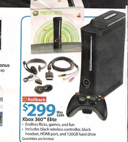 Look out, Slim: Xbox 360 Elite showing $299 in new Walmart ad