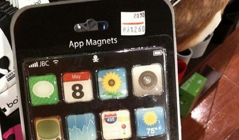 Put your favorite apps on the fridge with app magnets