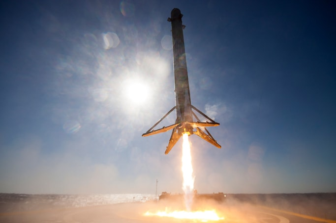 Watch a 360-degree video of SpaceX's rocket landing at sea