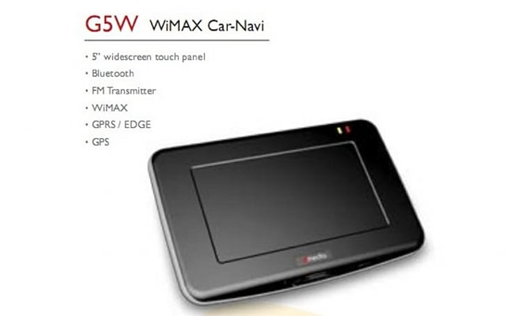 dmedia intros WiMAX-packing G5W GPS unit