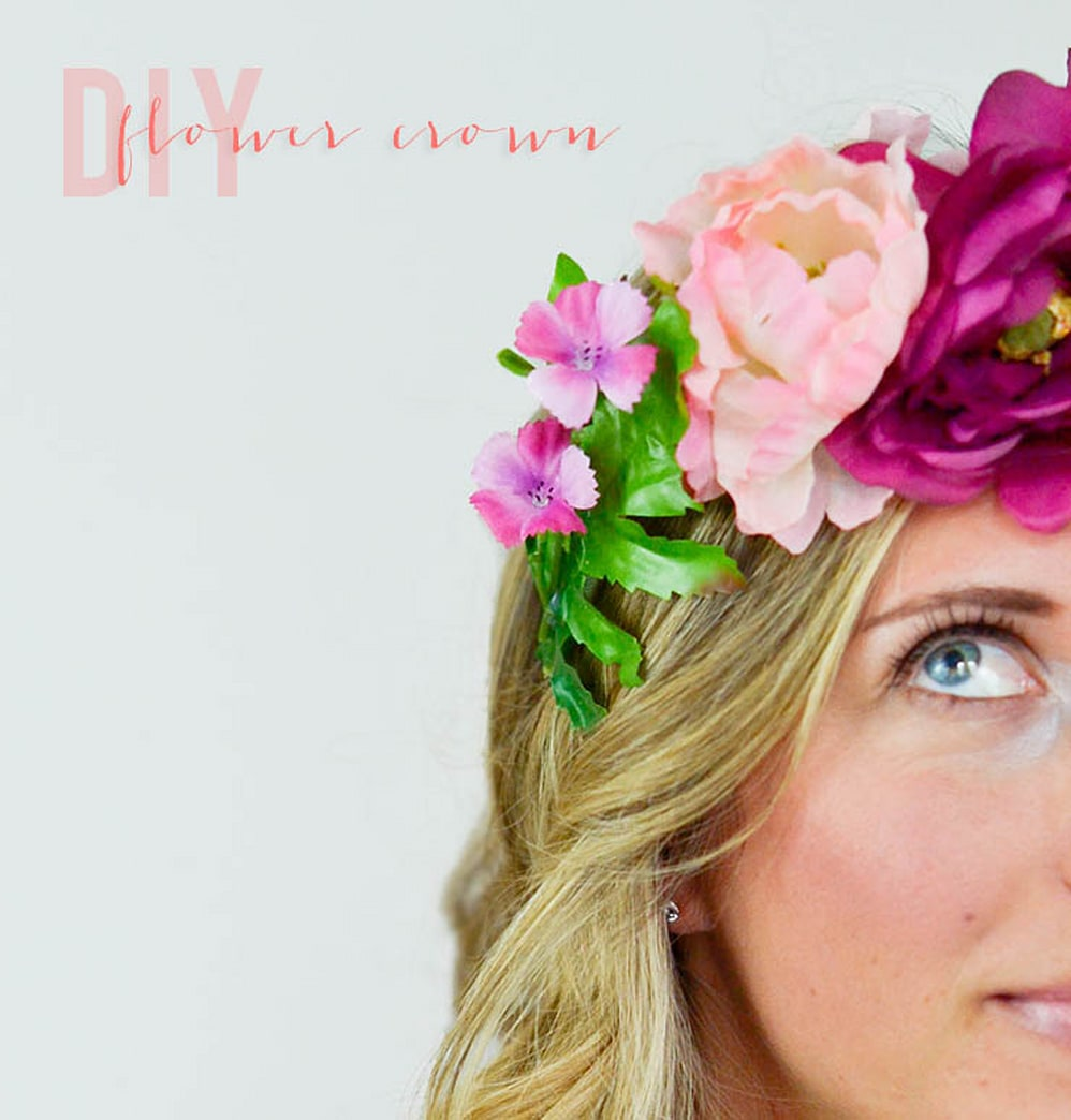 DIY floral crown perfect for your next music festival