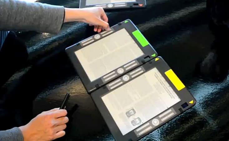 Microsoft Research-backed e-reader prototype can't keep its text to itself (video)