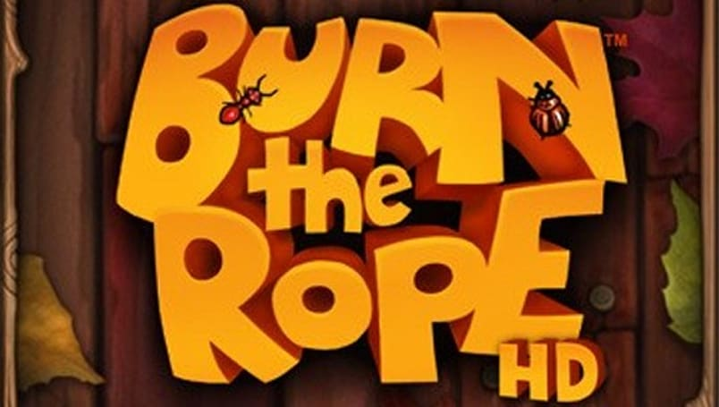 Burn the Rope HD starting fires on iPad today