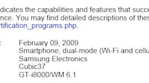 Samsung's Windows Mobile-based GT-i8000 oddly outed