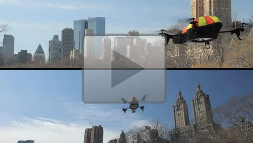 AR Drones loosed on unsuspecting Central Park