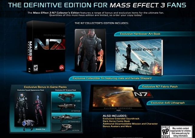 Video: Mass Effect 3 'N7 Collector's Edition' packed with bonus character, robotic canine