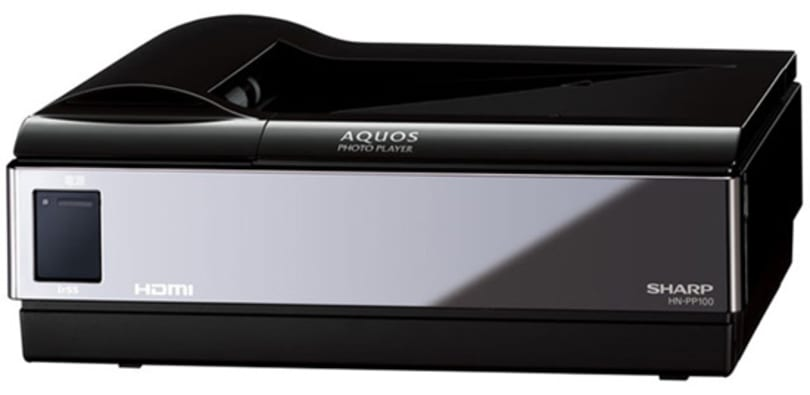 Sharp's AQUOS photo player prints / displays images on your HDTV