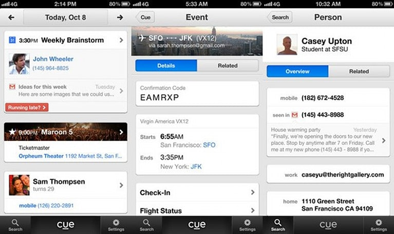 Apple reportedly acquires Cue, hints at future agenda features in iOS