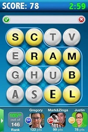 Scramble Live lets iPhone users play against Facebook users