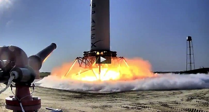 SpaceX's 'Grasshopper' vertical takeoff / vertical landing rocket takes its first small leap (video)