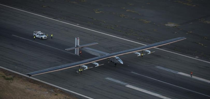 Solar-powered plane completes five-day journey across the Pacific