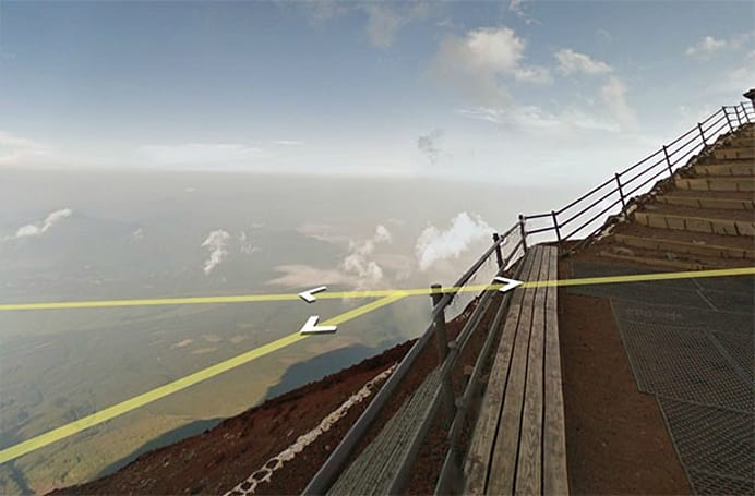 Google's Street View takes you up Mount Fuji, crampon free
