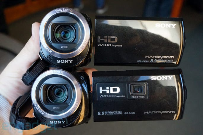Sony Handycam CX380 and PJ380 offer boosted specs with less heft, we go hands-on