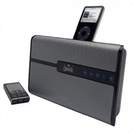 GEAR4's HouseParty Blu system handles iPods and A2DP streaming