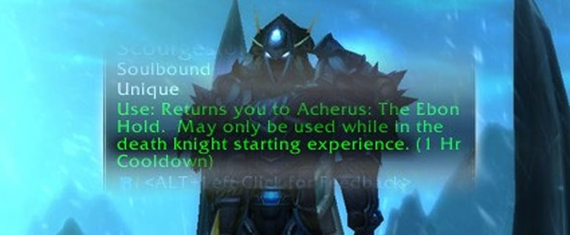 The Death Knight starting experience
