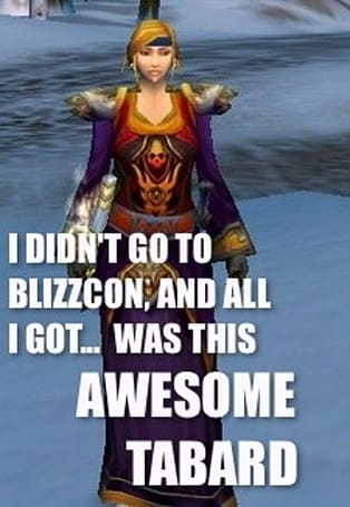 Not at BlizzCon?  Enter to win a Tabard of Flame anyway