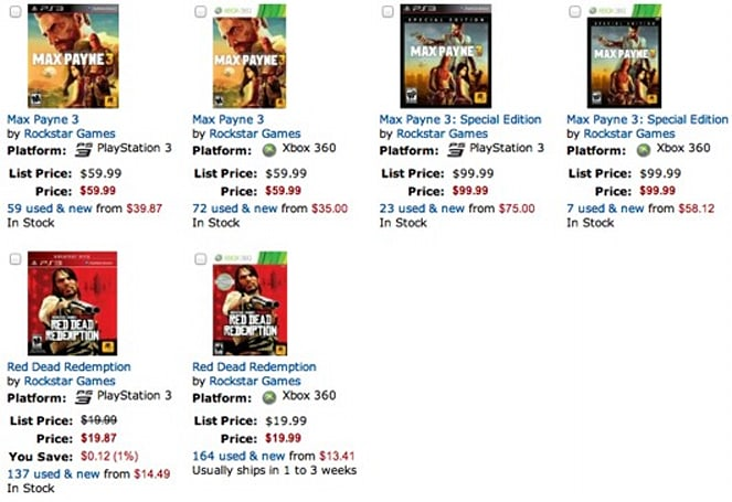 Buy Max Payne 3 from Amazon, get free Red Dead Redemption