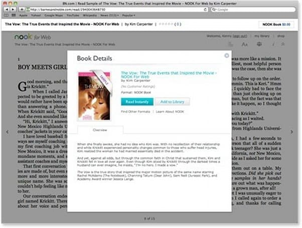 Barnes & Noble brings out Nook for Web, comes full circle with e-reading (update: not on iOS)