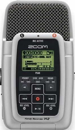 Samson's Zoom H2 SD portable audio recorder