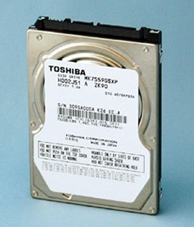Toshiba announces 750GB and 1TB laptop HDDs, gives them awkward model names like MK7559GSXP