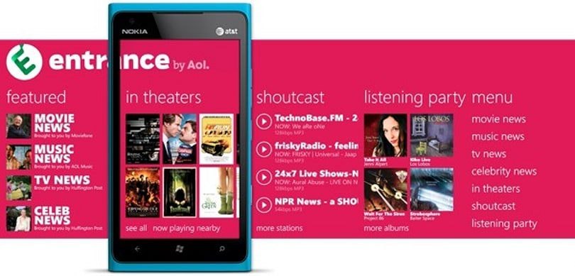 Nokia and AOL announce Entrance, an entertainment app for Nokia's Windows Phone devices