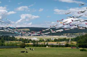 Acht Stunden Luftverkehr in einem Bild