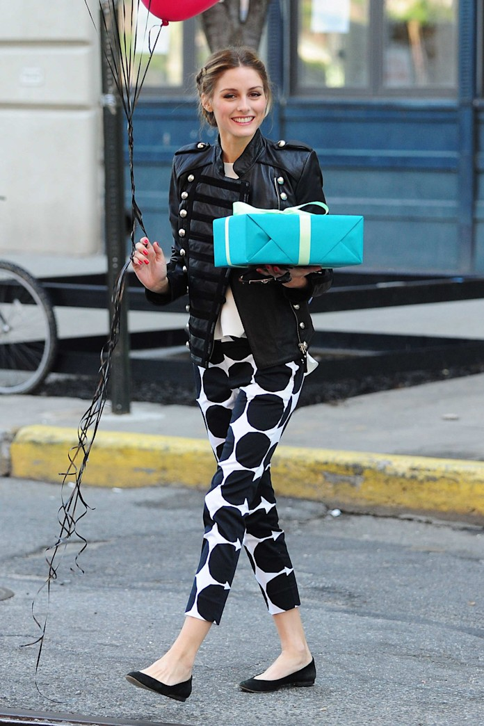 Olivia Palermo's under $100 polka dot pants -- here's where to buy them!