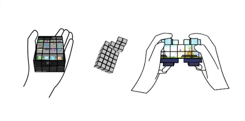 Researchers create Rubik's cube-like touchscreen display