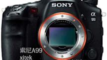 Sony Alpha A99 poses for someone else's camera, no optical viewfinder in sight