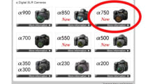 Sony Alpha A750 keeps with tradition, leaks out ahead of release