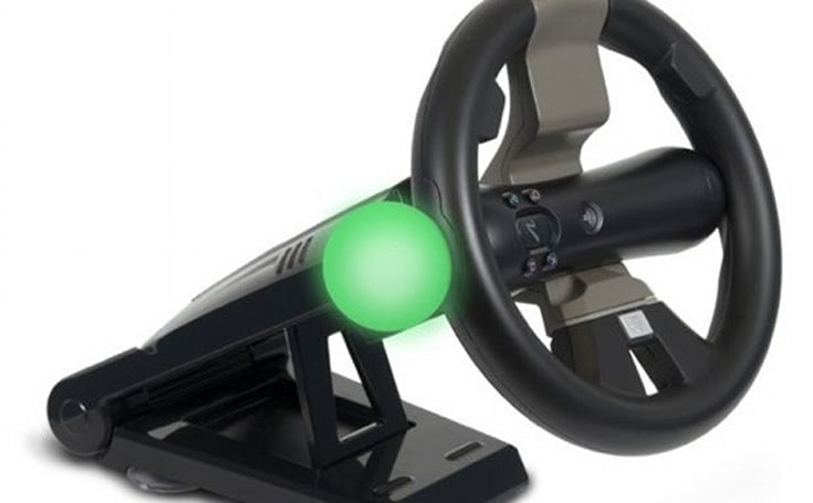 PlayStation Move Racing Wheel adds mass to your motion